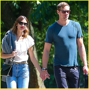 Alexander Skarsgard & Alexa Chung Confirm Relationship With These PDA Pictures!