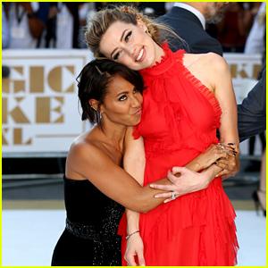 Amber Heard & Jada Pinkett-Smith Share a Funny & Sweet Moment at 'Magic Mike XXL' Premiere
