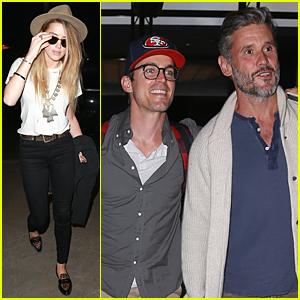 Amber Heard & Matt Bomer Jet Out of Los Angeles Following 'Magic Mike XXL' Premiere