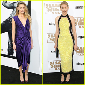 Amber Heard Looks Pretty in Purple at 'Magic Mike XXL' Hollywood Premiere