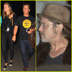 Brad Pitt Helps Celebrate U2's Concerts at the After-Party!