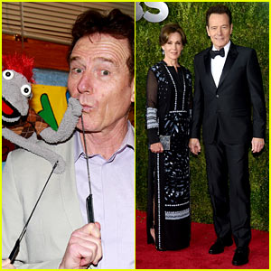 Bryan Cranston Supports 'Hand to God' Before Tonys 2015!