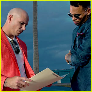 Chris Brown & Pitbull's 'Fun' Video Is 'Miami Vice' Inspired!