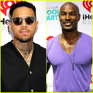 Chris Brown & Tyson Beckford Attend the Same Party After Their Feud