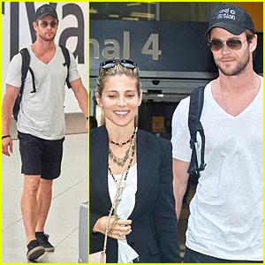 Chris Hemsworth & Elsa Pataky Jet Back to London Following Malta Trip