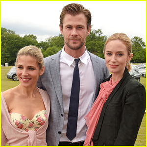 Chris Hemsworth Suits Up for Polo Match with Wife Elsa Pataky