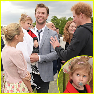 Chris Hemsworth's Adorable Daughter India Met Prince William & Prince Harry!