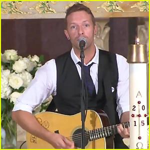 Chris Martin Sings 'Til Kingdom Come' at Beau Biden Funeral - Watch Here!