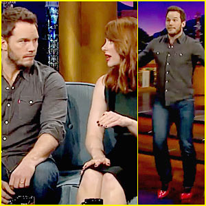 Chris Pratt Runs in Red Heels on 'Late Late Show' - Watch Now!