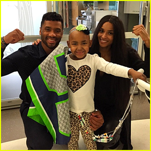 Ciara & Her Quarterback Boyfriend Russell Wilson Visit Sick Kids at Seattle Children's Hospital