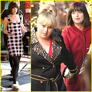 Dakota Johnson & Rebel Wilson Look Like BFFs on 'How to Be Single' Set