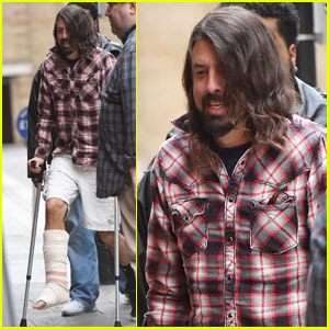 Dave Grohl Heads Out For the First Time Post Leg Operation