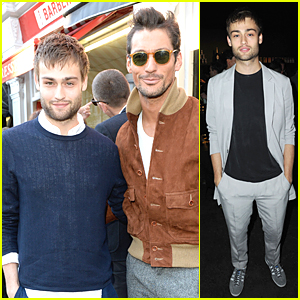 Douglas Booth & David Gandy Party in Style at Club Monaco Opening