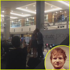 Watch Ed Sheeran Surprise a Fan Singing His Song at the Mall!