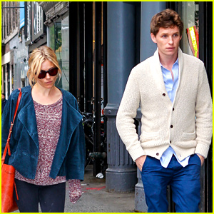 Eddie Redmayne & Sienna Miller Enjoy a Friendly NYC Outing