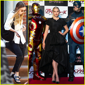 Elizabeth Olsen Stuns at 'Avengers: Age of Ultron' Japan Premiere!