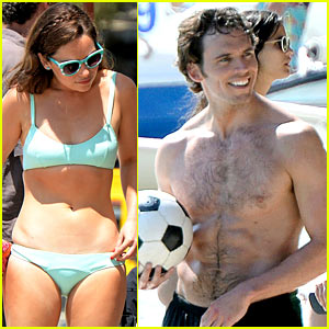 Emilia Clarke & Sam Claflin Show Off Hot Summer Bodies!