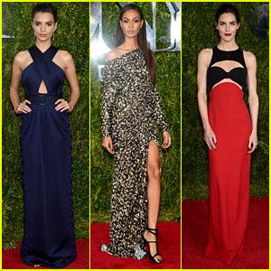 Emily Ratajkowski Helps Make the Tony Awards a More Fashionable Evening!
