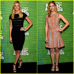Erin Andrews & Brittany Snow Prep for CMT Hosting Duties!