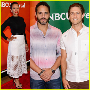 'Graceland's Aaron Tveit & Daniel Sunjata Heat Up the NBC's New York Summer Press Day 2015!