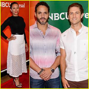 'Graceland's Aaron Tveit & Daniel Sunjata Heat Up the NBC's New York Summer Press Day 2015!