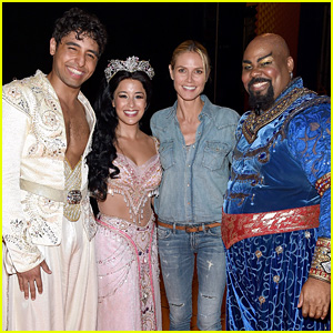 Heidi Klum Enjoys a Night Out at Broadway's 'Aladdin'