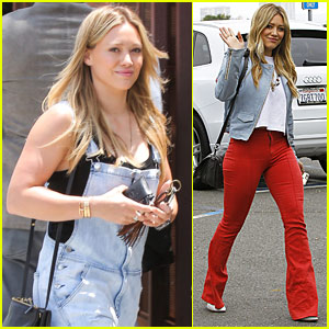 Hilary Duff Rocks Out To Her Own Music In Her Car