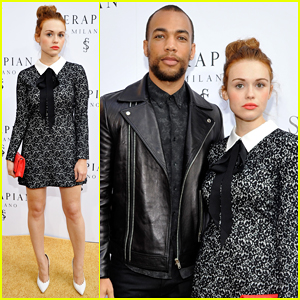 Holland Roden & Kendrick Sampson Celebrate Opening of Serapian Milano's First Store!