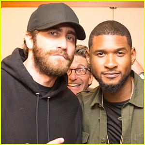 Jake Gyllenhaal & Usher Get Photobombed at NBA Finals Game 4