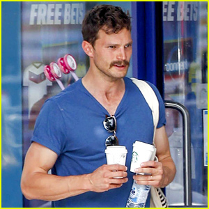 Jamie Dornan Shows Off His Mighty Mustache in London