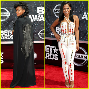 Janelle Monae Wears a Cape to the BET Awards 2015