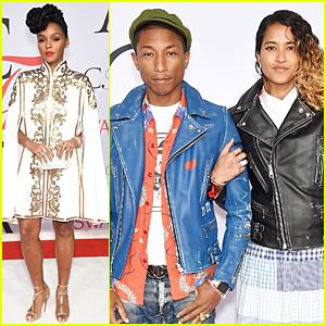 Janelle Monae & Pharrell Williams Are Stylish Musicians at CFDA Fashion Awards 2015