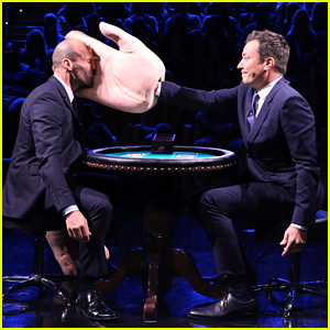 Jason Statham Gets Slapped in the Face by Jimmy Fallon (Video)