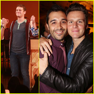 Jonathan Groff Celebrates 'A New Brain' Opening