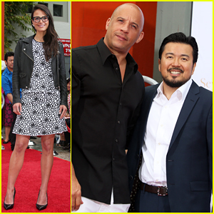 Jordana Brewster & Vin Diesel Support 'Fast & Furious' Director Justin Lin at Chinese Theater Hand Print Ceremony!