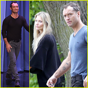 Jude Law & New Girlfriend Phillipa Coan Step Out Together in London