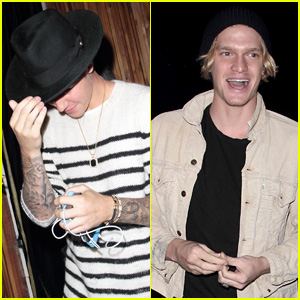 Justin Bieber & Cody Simpson Sing 'Home to Mama' for West Hollywood Crowd (Video)