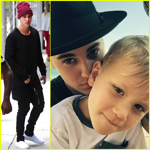 Justin Bieber Shares Brother Bonding Time With Jaxon