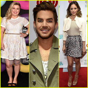Kelly Clarkson & Adam Lambert Hit Up iHeartRadio Pool Party With Fellow 'Idol' Alum Katharine McPhee