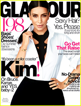 Kim Kardashian Confirms Pregnancy in New 'Glamour' Issue!