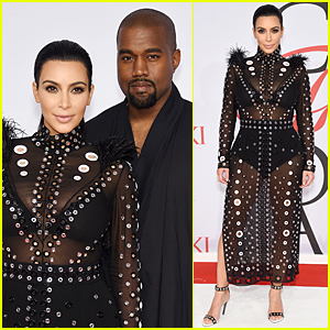 Kim Kardashian & Kanye West Are Hottest Couple at CFDA Fashion Awards 2015