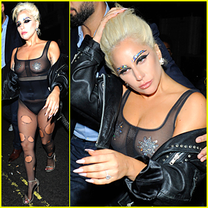 Lady Gaga Wears Another Pasties Baring Ensemble in London