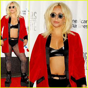 Lady Gaga Wears Bra & Underwear to Accept Her Latest Award