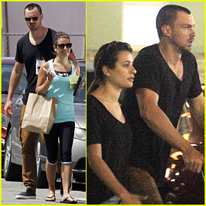 Lea Michele & Matthew Paetz Run Errands Before She Continues 'Scream Queens' Shooting