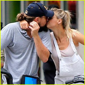 Leonardo DiCaprio Kisses New Girlfriend Kelly Rohrbach During Romantic Bike Ride (Photos)