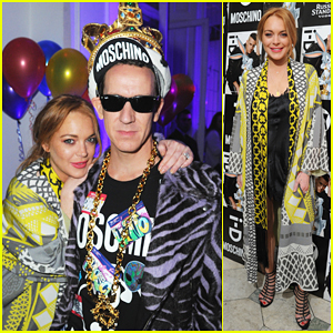 Lindsay Lohan & Jeremy Scott Buddy Up At 'i-D' Mag's 35th Anniversary!