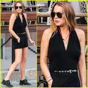 Lindsay Lohan Reminisces About 'Herbie' at FIA Forumla E ePrix