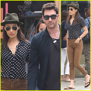 Maggie Q & Dylan McDermott Go Furniture Shopping During Her 'Allegiant' Break
