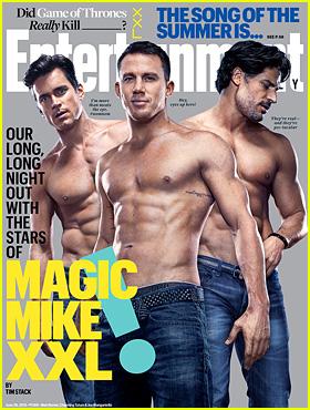 Channing Tatum, Matt Bomer, & Joe Manganiello Show Off Ripped Shirtless Bodies on New 'EW' Cover