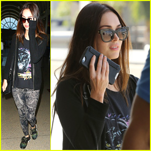 Megan Fox Keeps a Low Profile While Arriving at LAX Airport